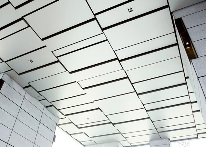 Interior Custom Ceilings , Decorative Perforated Metal Ceiling Tiles Neutral Package