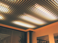 Suspended False Aluminum Ceiling Grid  250x250mm / 300x300mm Customized Color
