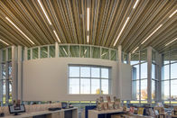 C Shaped Linear Metal Strip Ceiling  , False Perforated Aluminium Strip