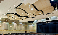 Double Curved Exterior Aluminum Ceiling Panels Sound Attenuation Color Custom