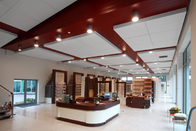 Beautiful  Curved  False Ceiling Aluminium Panels FOR Semi Exposed Soffit Buildings