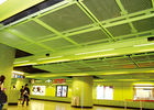 Colored Metal Suspended Ceiling Tiles  For Indoor Passageway Fashion Style