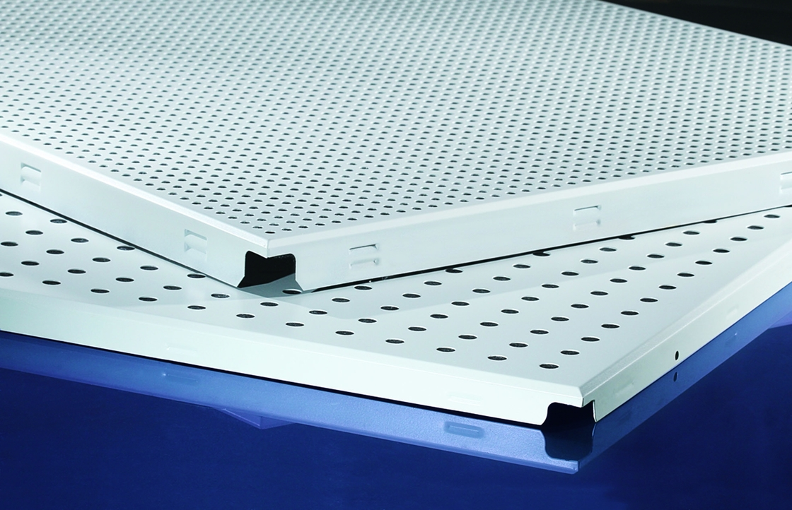 Waterproof White Clip In Ceiling Tiles Perforated Ceiling For Office