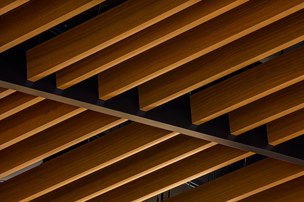 U Shape Square  Aluminum Baffle Ceiling Wood Pattern   40×100 / 50×100