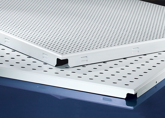 Clip In  Aluminum Metal Ceiling 600x600MM , Perforated Aluminum Ceiling Panels