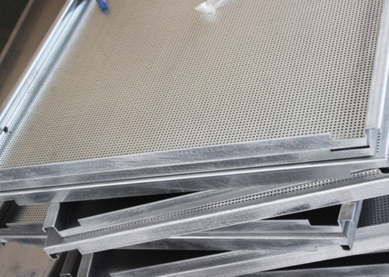 White Hook On Ceiling System , Antistatic  Aluminum False Ceiling  By Smooth  Surface